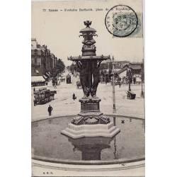 51 - Reims - Fontaine Bartholdi - Place de la république - Voyagé - Dos non di