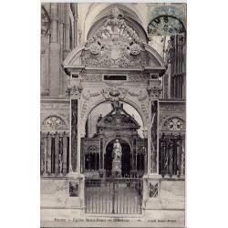 51 - Reims - Eglise Saint rémi - Intérieur - Voyagé - Dos divisé