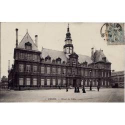51 - Reims - Hôtel de ville - Voyagé - Dos divisé