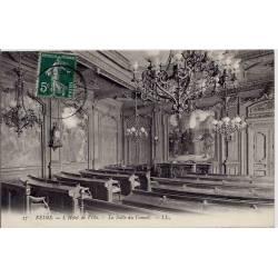 51 - Reims - Hôtel de ville - La salle du conseil - Voyagé - Dos divisé