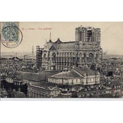 51 - Reims - Vue générale - Voyagé - Dos divisé
