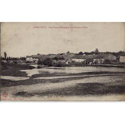 54 - Ansauville - Rue neuve-Charpagne et le ruisseau d'Esse - Voyagé - Dos div