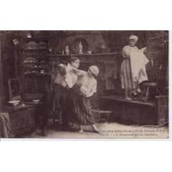 56 - Bretagne - Autour des lits-clos - L'étrenne de la barbe - Voyagé - Dos di