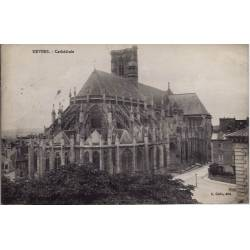58 - Nevers - Cathédrale - Voyagé - Dos divisé