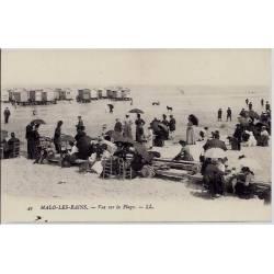 59 - Malo-les-Bains - Vue sur la plage - Non voyagé - Dos divisé