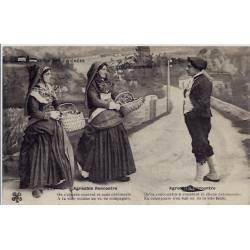 65 - Types des Pyrénées - Agréable rencontre de deux femmes et un homme - Voya