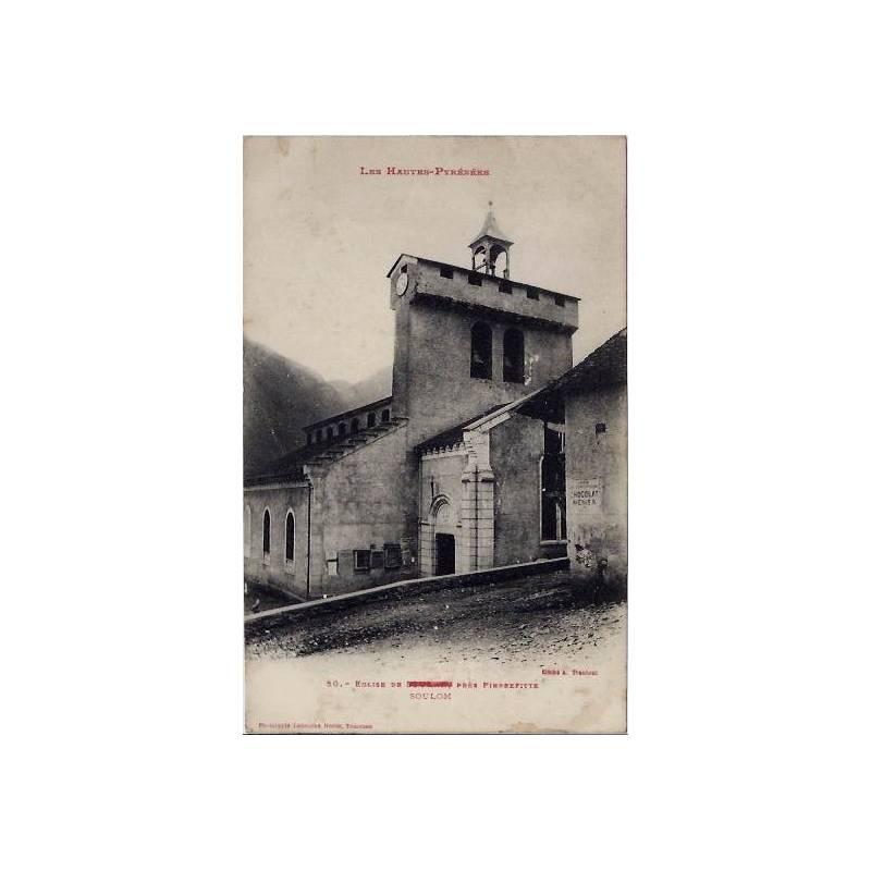 65 - Les heutes-pyrénées - Eglise de Soulom près Pierrefitte - Non voyagé - Do