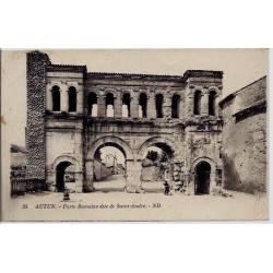 71 - Autun - Porte Romaine dite de Saint-André - Voyagé - Dos divisé