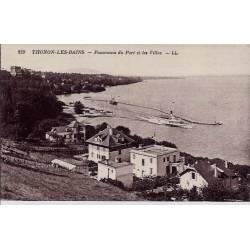 74 - Thonon-les-Bains - Panorama du Port et les villas - Voyagé - Dos divisé