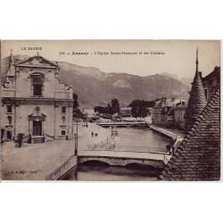 74 - Annecy - L'église Saint-François et les canaux - Non voyagé - Dos divisé