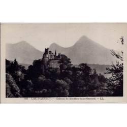 74 - Lac  d' Annecy - Château de Menthon Saint-Bernard - Voyagé - Dos divisé