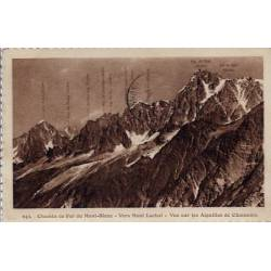 74 - Hautes-savoie - Chemin de fer du Mont-Blanc - Vue sur les aiguilles de Ch