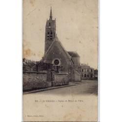 77 - Le châtelet - Eglise et hôtel de ville - Voyagé - Dos divisé
