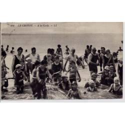 80 - Le Crotoy - A la corde - Habitant à la mer - Voyagé - Dos divisé