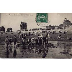 80 - Onival - Les jeux sur le sable à Marée Basse - Voyagé - Dos divisé