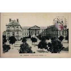 80 - Amiens - Le palais de Justice - Voyagé - Dos divisé