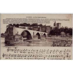 84 - Avignon - Le pont saint-Bénézet - Non voyagé - Dos divisé
