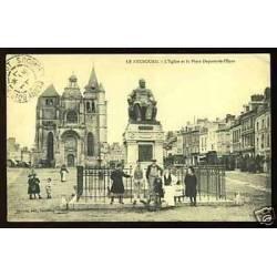 27 - Le Neubourg -L'Eglise et la place Dupont de l'eure