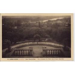 91 - Athis-Mons - Les charmilles - Les arceaux du parc vus d'une chambre - Non