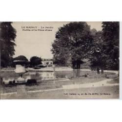 93 - Le raincy - Le jardin public et la pièce d'eau - Voyagé - Dos divisé