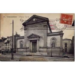 94 - Vincennes - L'église - Voyagé - Dos divisé