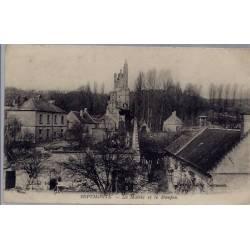 02 - Septmonts - La Mairie et le Donjon - Voyagé - Dos divisé...