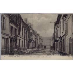 02 - Soissons - Guerre de 1914 - Maisons bombardées par les allemands - Voya...