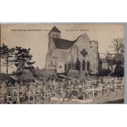 02 - Oulchy-le-Château - Le cimetière Militaire - Voyagé - Dos divisé...