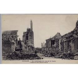 02 - Soissons - La cathédrale et la rue de la Buerie - Non voyagé - Dos divi...