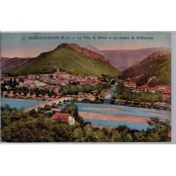04 - Dignes-les-bains - La ville - La Bléone et les rochers de St Pancrace -...