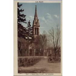 05 - Gap - Square Saint-Arnoux - La cathédrale - Non voyagé - Dos divisé...