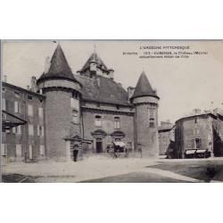 07 - Aubenas - Le château ( mairie) - Actuellement Hôtel de Ville - Voyagé -...