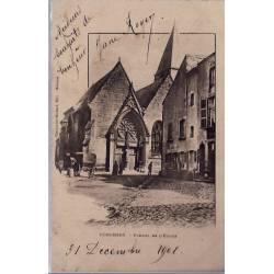 08 - Donchery - Portail de l'église - Voyagé - Dos non divisé...
