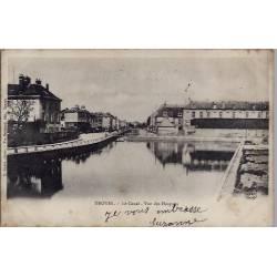 10 - Troyes - Le Canal - Vue des Hospices - Voyagé - Dos non divisé...