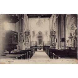 10 - Ervy - Intérieur de l'église - Voyagé - Dos divisé...