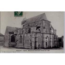 10 - Chaource - Eglise - Monument historique datant de 1307 - Voyagé - Dos d...