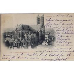 10 - Troyes - Chevet de la cathédrale - Voyagé - Dos non divisé...