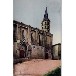 11 - Castelnaudary - L' église St-Michel - Voyagé - Dos divisé...