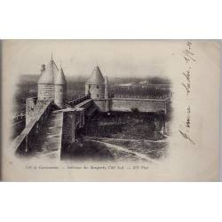 11 - Cité de Carcassonne - Intérieur des remparts, côté Sud - Voyagé - Dos n...