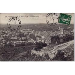 12- Villefranche-de-Rouergue - Vue générale - Voyagé - Dos divisé...