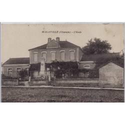 16 - Malaville - l'école- Voyagé - Dos divisé...