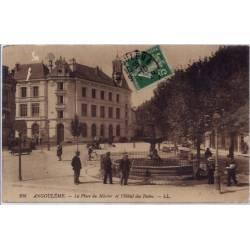 16 - Angoulême - La place du Mûrier et l' hôtel des postes- Voyagé - Dos div...