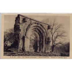 16 - Montchaude - Portail de l'ancienne église - Voyagé - Dos divisé...