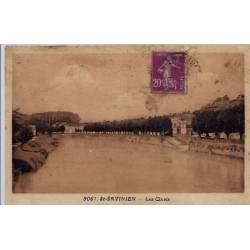 17 - St Savinien - Les quais - Voyagé - Dos divisé...