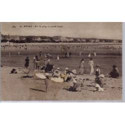 17 - Royan - Sur la plage à marée basse - Voyagé - Dos divisé...