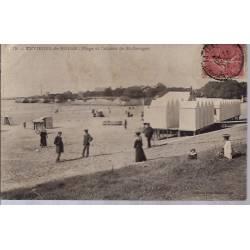 17 - Environs de Royan - plage et cabines de St-Georges - Voyagé - Dos divis...