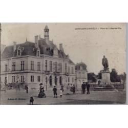 17 - Saint-Jean-d'Angély - Place de l' hôtel de ville - Voyagé - Dos divisé...