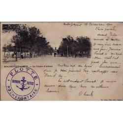 """17 - Rochefort-sur-Mer - Le cours d' Ablois - Cachet de la """" flotte rochefor..."""