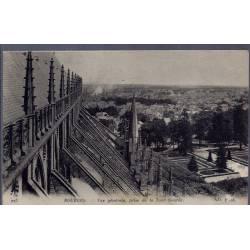 18 - Bourges - Vue générale, prise de la Tour Sourde - Voyagé - Dos divisé...