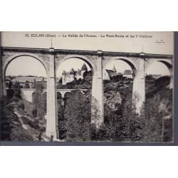18 - Culan - La vallée de l' Arnon - Le pont-Route et les 2 Viaducs - Non vo...